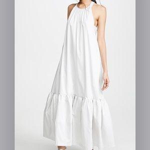 Phillip Lim Long Striped Tent Dress White